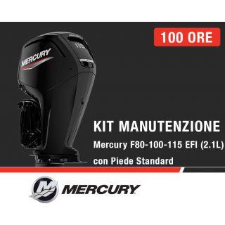 Kit Manutenzione annuale/100 ore Mercury F80-100-115 EFI e 115 ProXS (2,1L) con piede standard