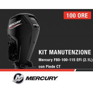 Kit Manutenzione annuale/100 ore Mercury F80-100-115 EFI e 115 ProXS (2,1L) con piede CT